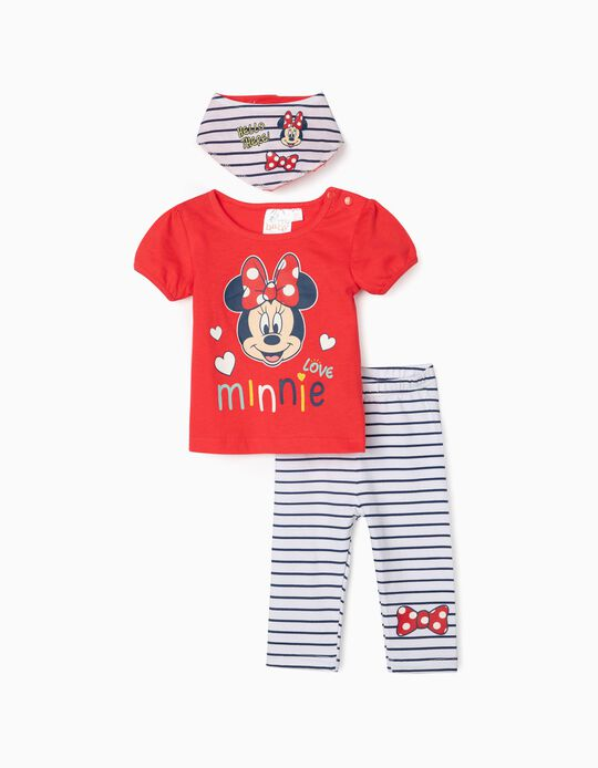3-Piece Outfit for Baby Girls 'Love Minnie', Red/White