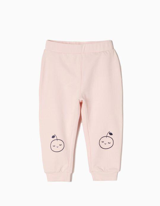 Pantalón de Chándal Apple Rosa Claro