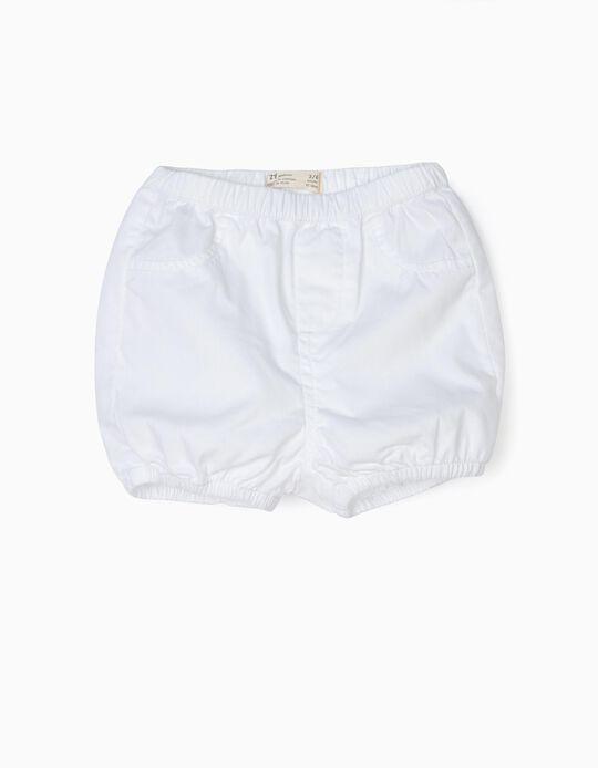 Short para Recién Nacido, Blanco
