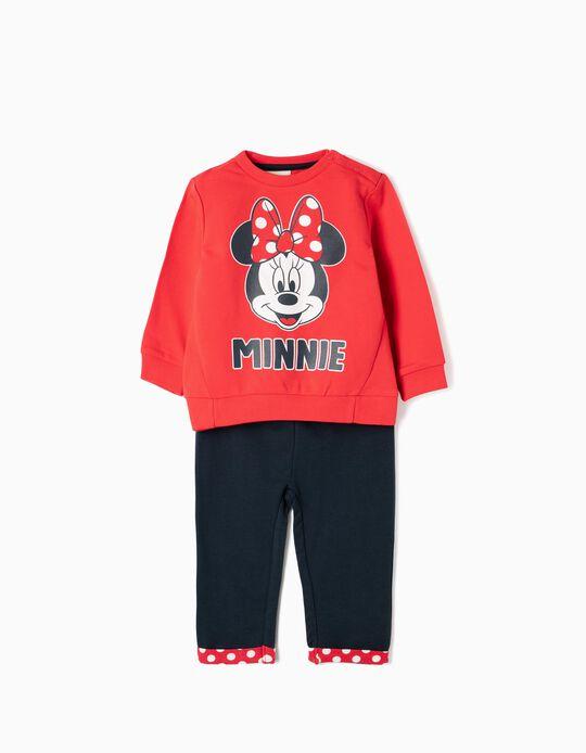 Fato de Treino para Bebé Menina 'Minnie', Vermelho e Azul