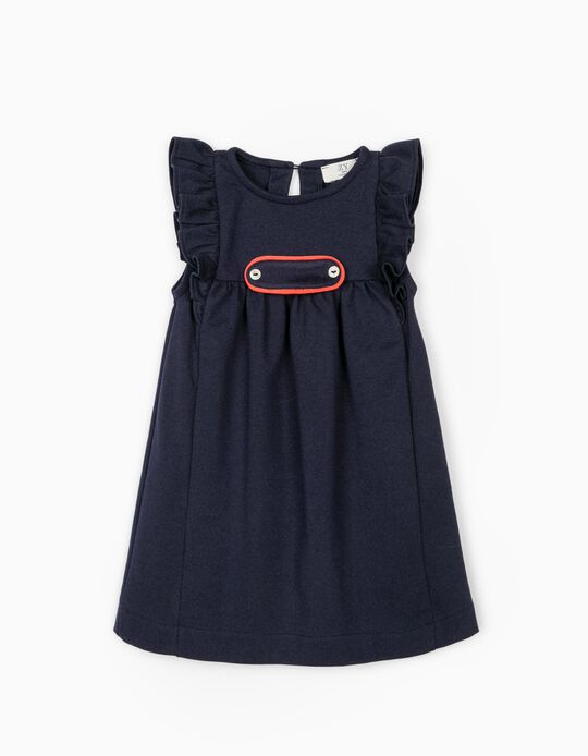 Dress with Ruffles for Baby Girls, Dark Blue