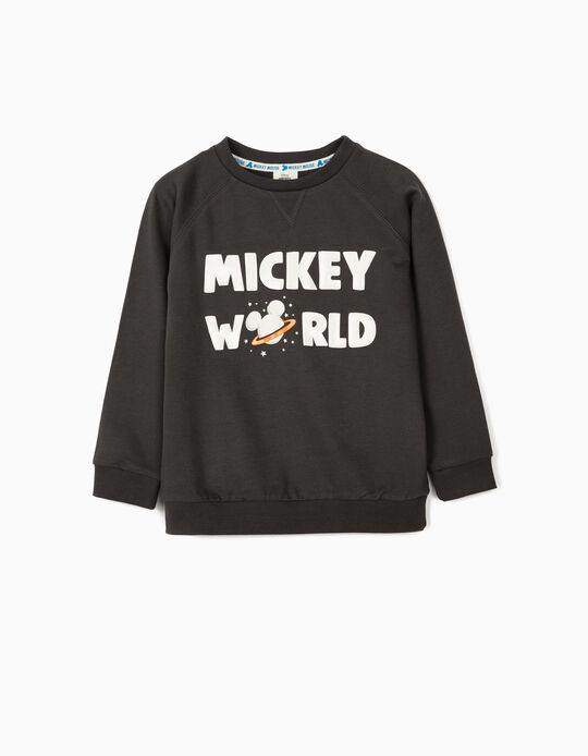 Sweatshirt for Boys 'Mickey Mouse World', Dark Grey