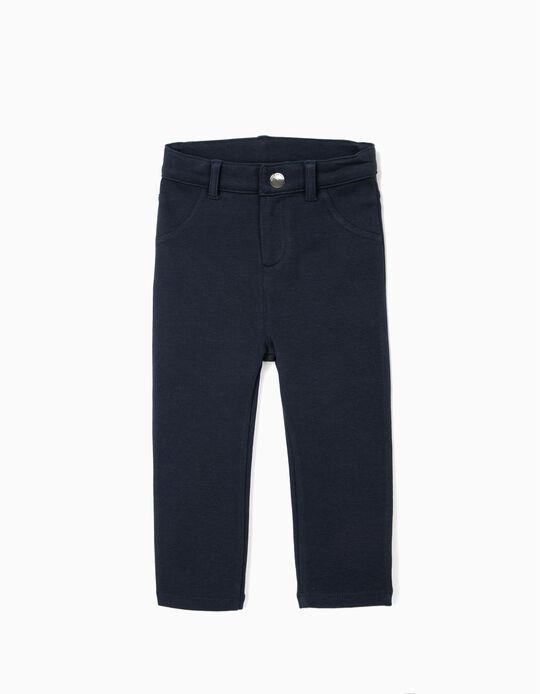 Pantalon bébé fille, bleu foncé