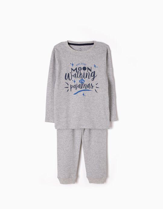 Pijama Manga Comprida e Calças Moon Walking