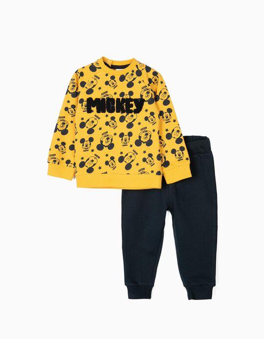 Fato de Treino para Bebé Menino 'Mickey', Amarelo/Azul Escuro