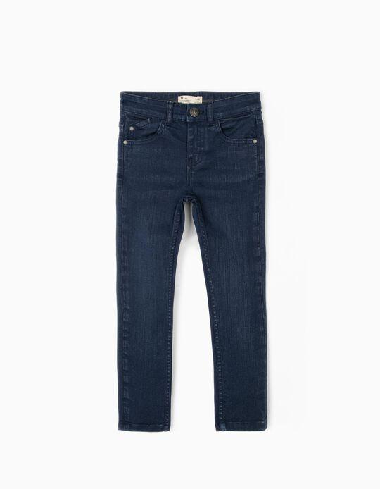 Pantalón de Sarga para Niño 'Skinny Fit', Azul Oscuro