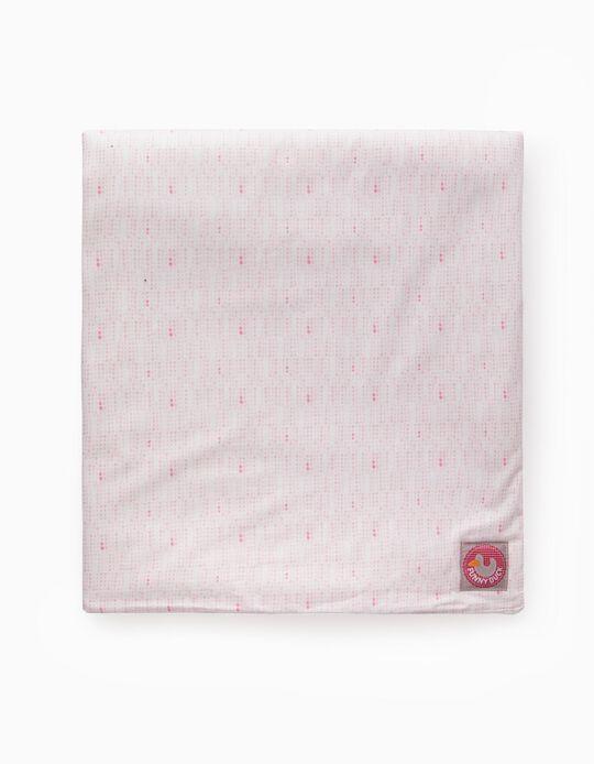 Manta 70X100cm Funny Duck Dots Pink