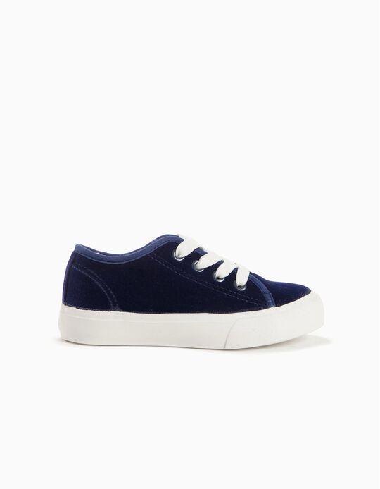 Zapatillas de Terciopelo Azul Marino