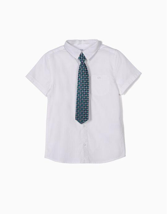 Camisa con Corbata para Niño, Blanca