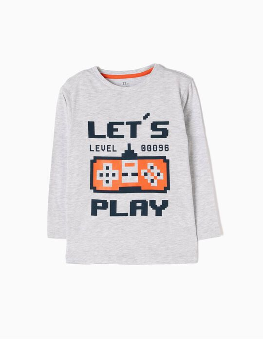 T-shirt Manga Comprida Let's Play