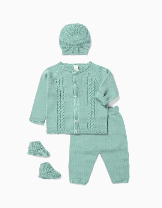 Conjunto 4 Prendas para Recién Nacido, Verde