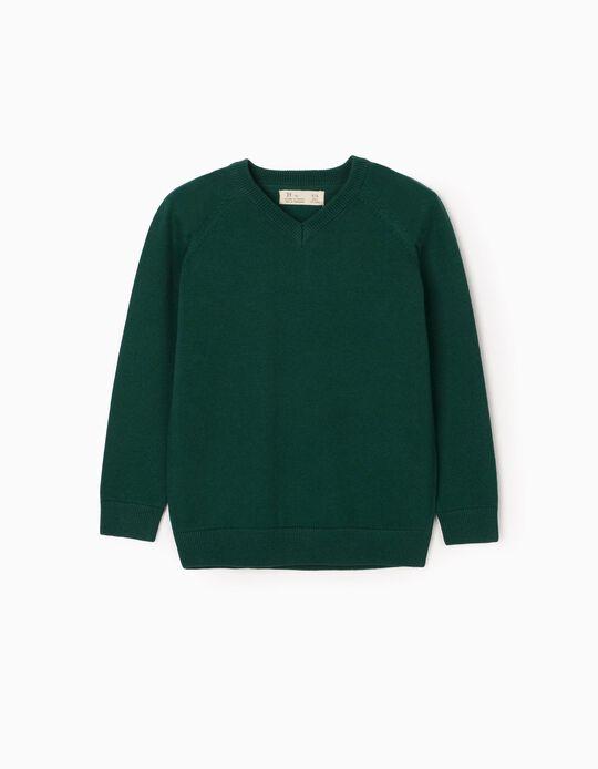 Camisola de Malha para Menino, Verde