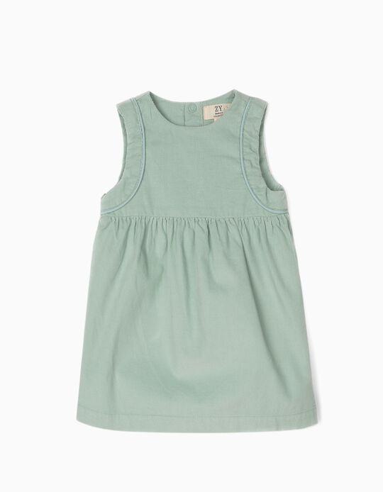 Vestido Bombazine para Recém-Nascida, Verde-Água