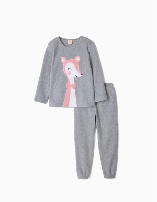 Pijama Polar para Menina 'Cute Deer', Cinza