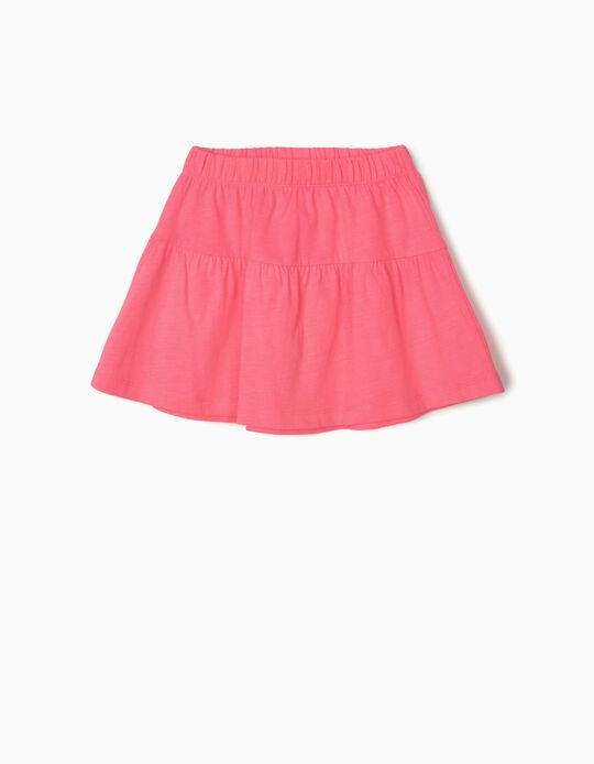 Jersey Knit Skirt for Girls, Pink
