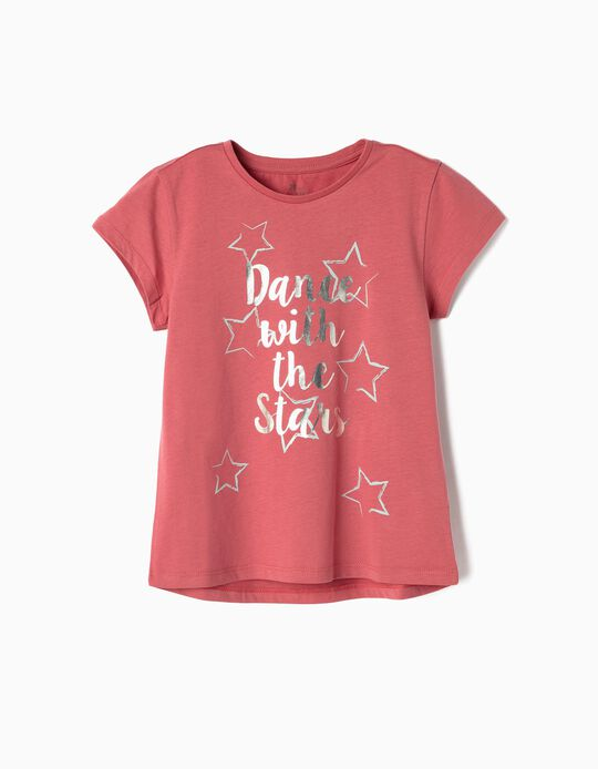 T-shirt para Menina 'Dance with the Stars', Rosa