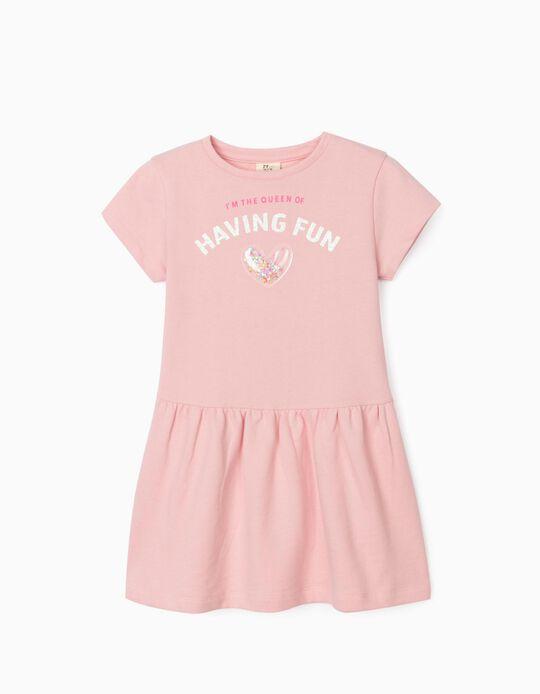 Vestido para Menina 'Having Fun', Rosa