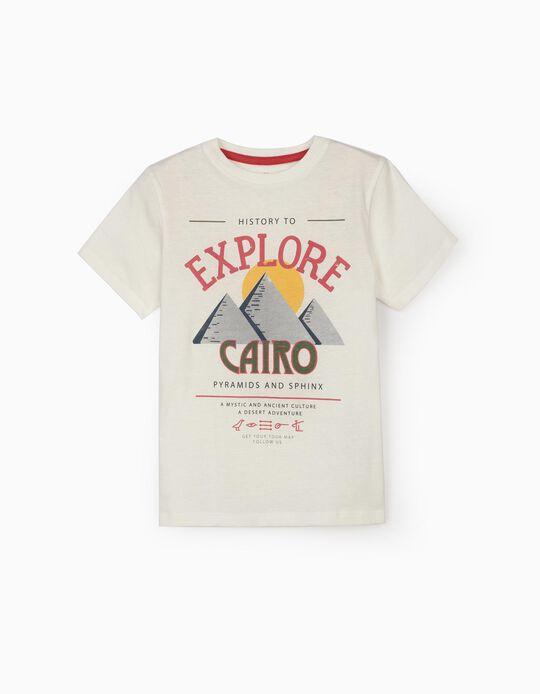 Camiseta para Niño 'Explore Cairo', Blanca