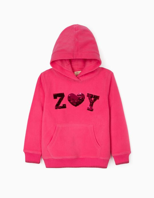 Sweatshirt Polar para Menina 'ZY', Rosa