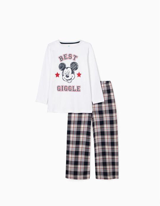 Pyjamas for Boys 'Mickey', White/Red/Blue