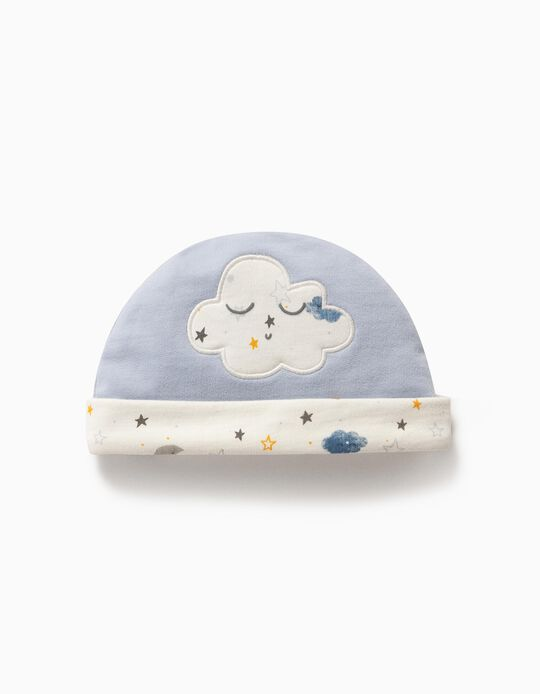 Beanie for Newborn Baby Boys, 'Cloud', Blue