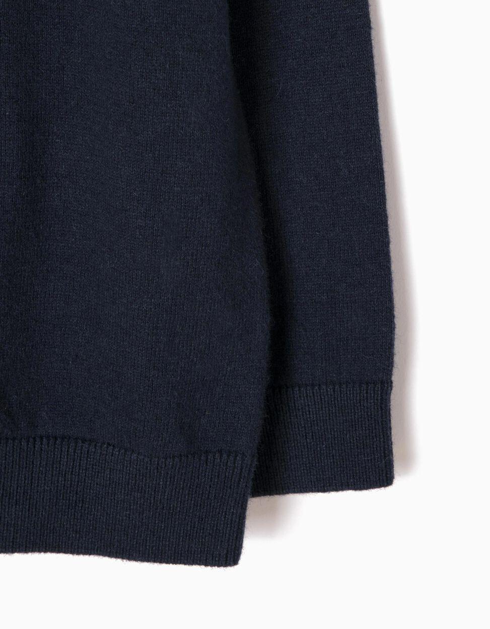 Jersey de Punto Fino Azul Marino