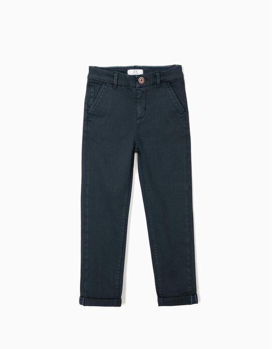 Pantalón Chino para Niño, Azul Oscuro