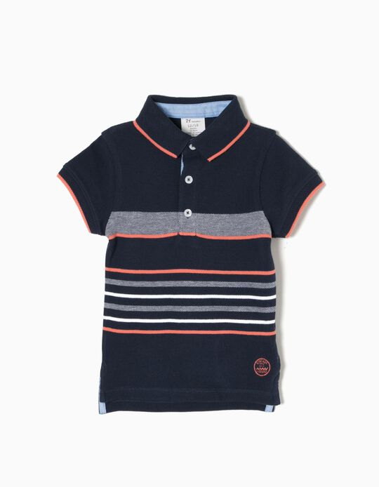 Polo ZY Vintage a Rayas
