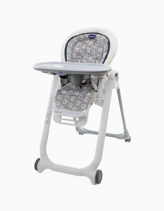 Cadeira De Refeição Polly Progres Chicco Light Grey