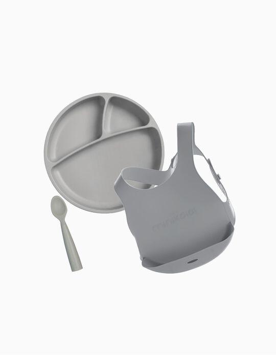Conjunto de Alimentação Minikoioi Cinza