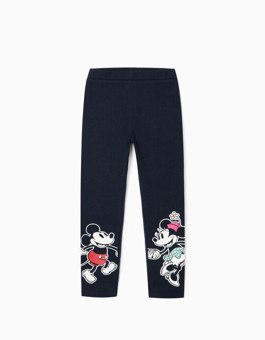 Leggings para Menina 'Mickey & Minnie', Azul Escuro