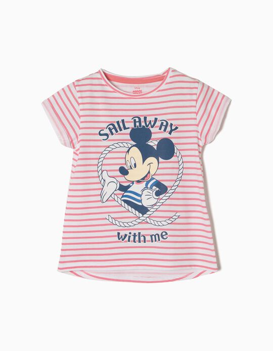 T-shirt Riscas Mickey