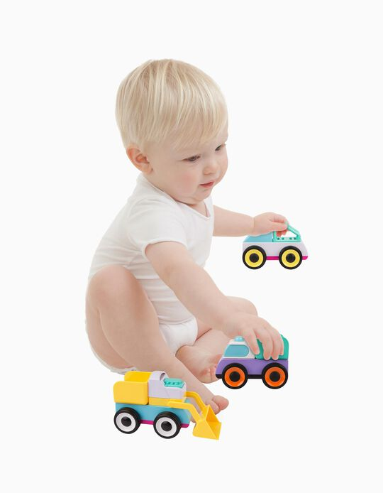 3 Coches de Juguete Mix And Match Playgro