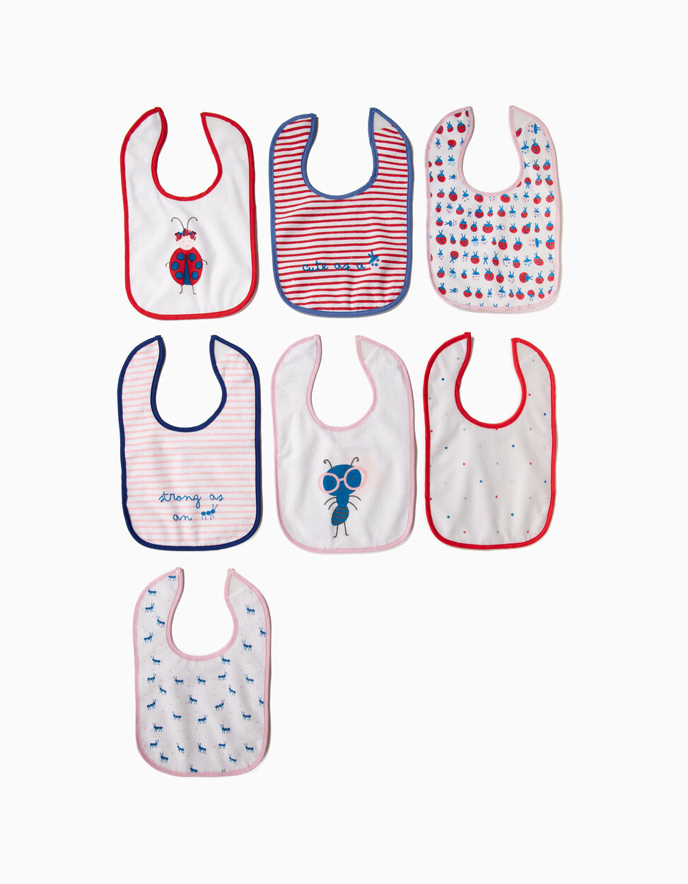 Pack of 7 Self-Closing Bibs, by Zy Baby