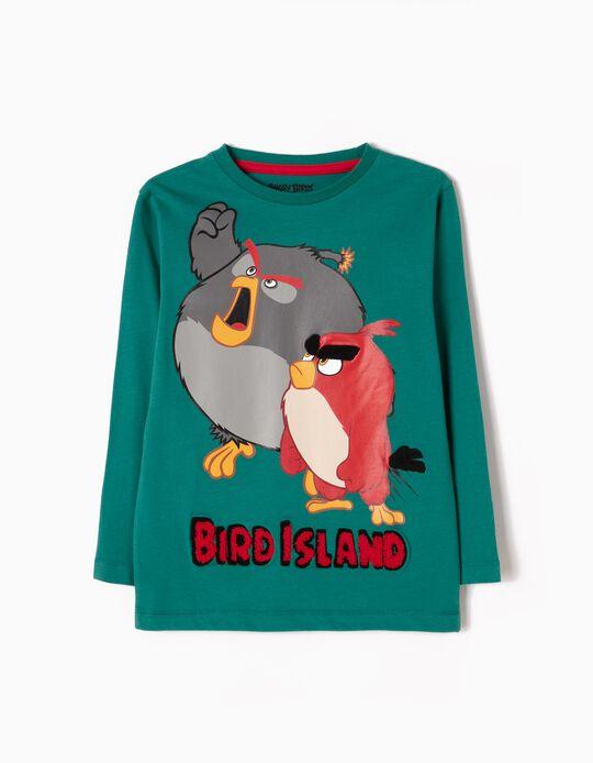 Camiseta de Manga Comprida Angry Birds Verde