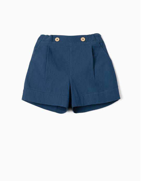 Shorts for Girls, 'B&S', Blue