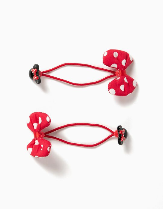 2 Gomas con Lacitos Minnie Rojo