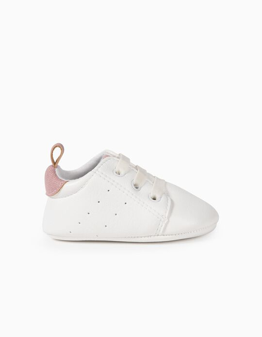 Trainers for Newborn Baby Girls, White