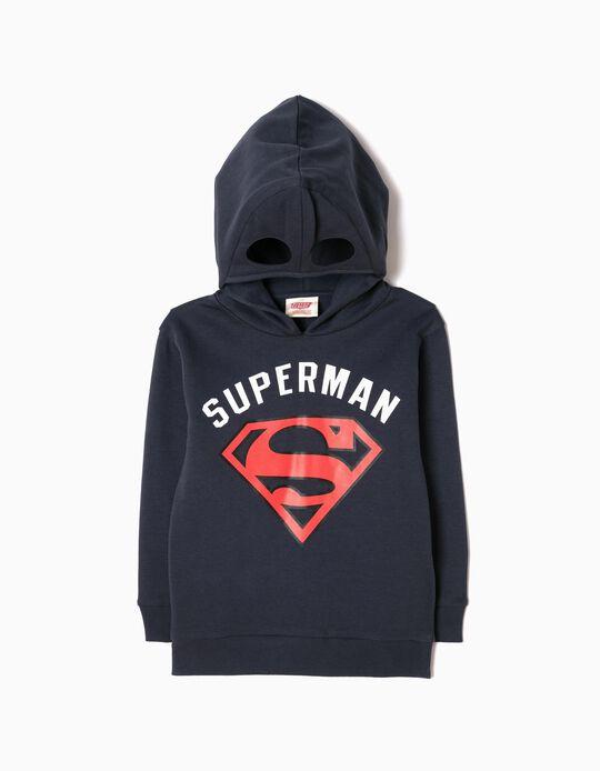 Sweatshirt com Capuz-Máscara Superman