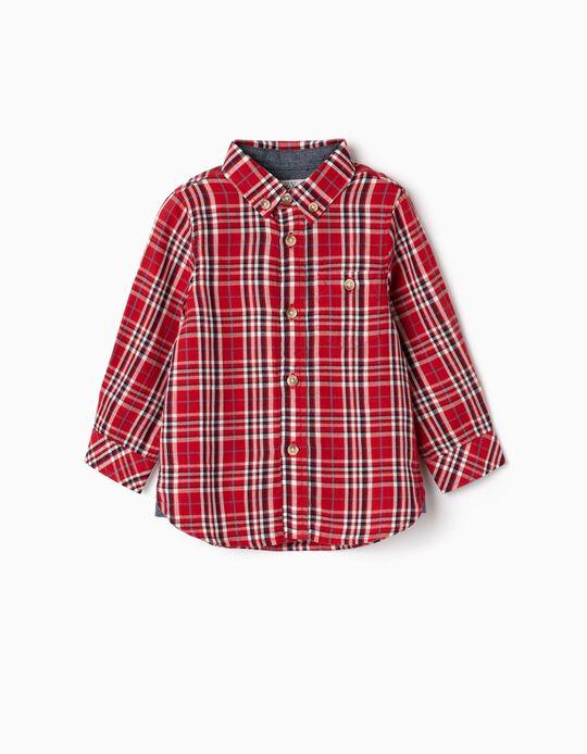 Camisa Xadrez para Bebé Menino, Vermelho