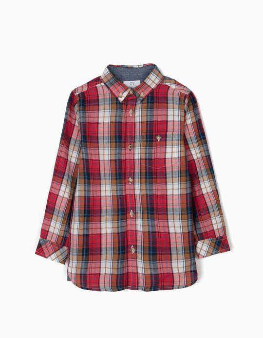 Camisa Ajedrez para Niño, Roja