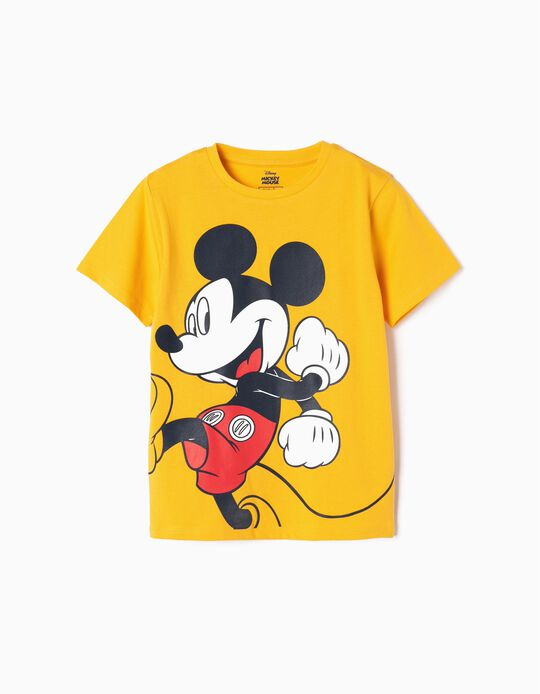 T-shirt for Baby Boys 'Mickey', Yellow