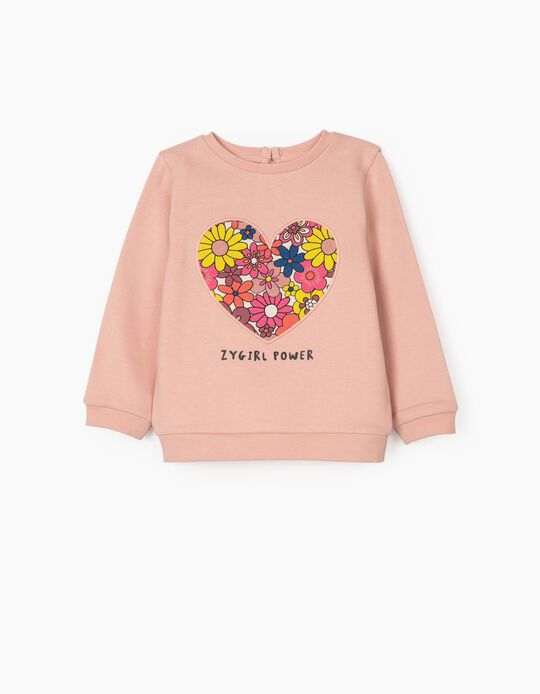 Sweatshirt for Girls 'ZY Girls Power', Pink