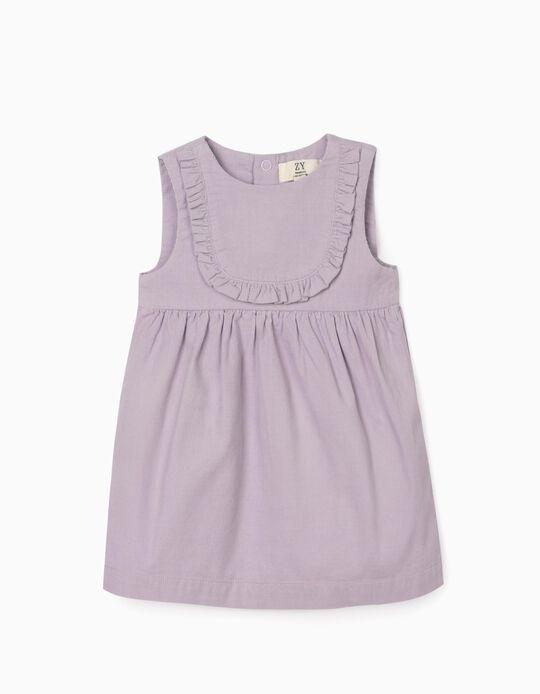 Corduroy Dress for Newborn Baby Girls, Purple