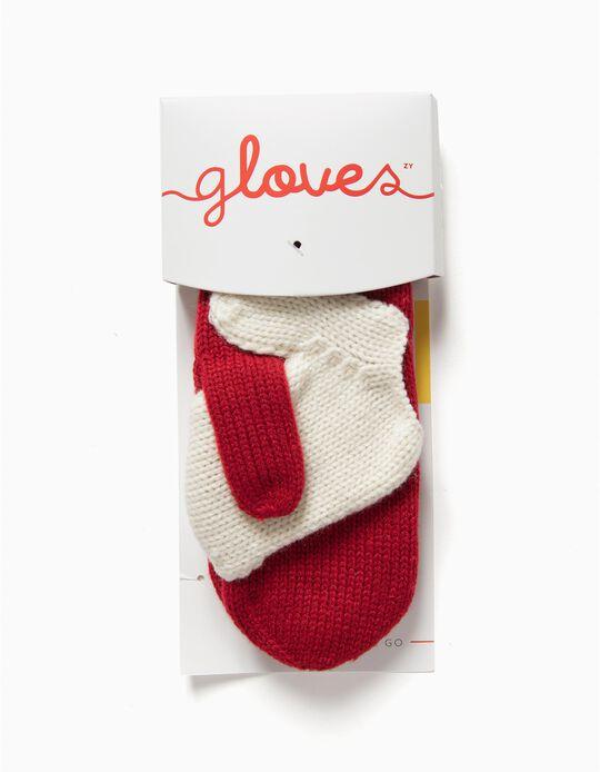 Meaningful Gloves - Luvas para Adulto e Criança, Vermelho e Branco