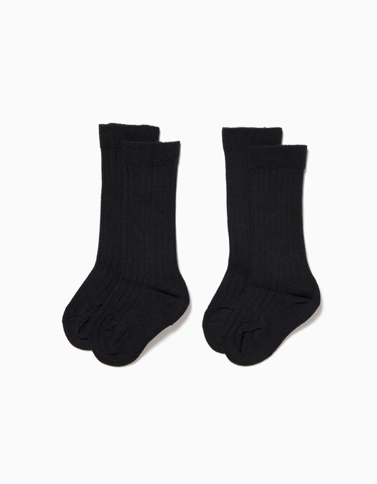 2-Pack Ribbed Socks