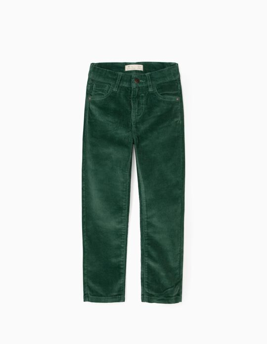 Corduroy Trousers for Boys, Green