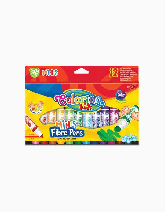 Marcador Fino 12 Colores Colorino