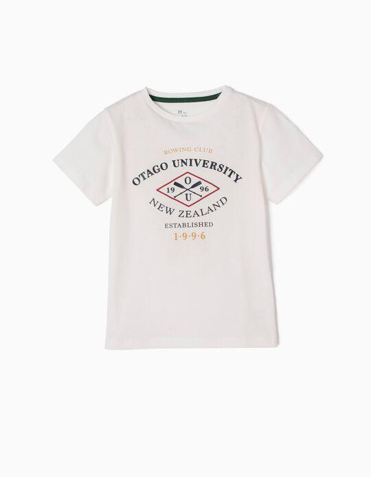 Camiseta Otago University Blanca