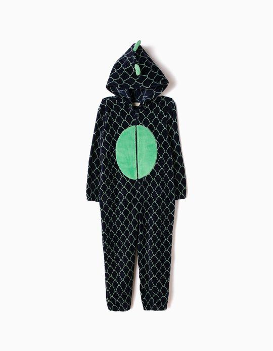 Pijama Macacão com Capuz Dinossauro